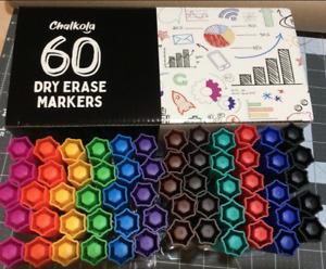 Dry Erase Markers Pack Of 60 with Chisel Tip 12 Assorted Colors Wit Low odor