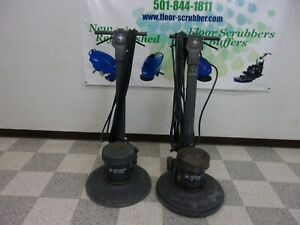 2 Advance Sd 5120 Corded Floor Buffer Scrubber Sander Machines With Pad Drivers