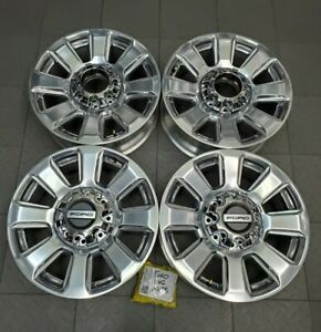 10103 Ford F250 F350 Srw Polished 20 Factory Oem Wheels Rims Set Hc3c1007k