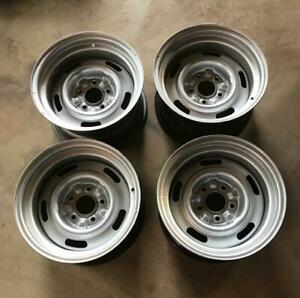Set Of Four Rally Wheels 15x8 In For 1969 1982 Corvette