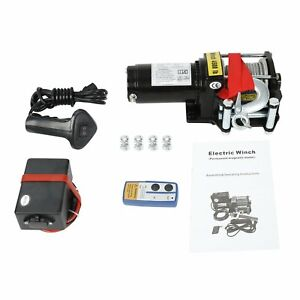 Electric Winch 4500lbs 12v Synthetic Rope 4wd For Atv Utv Winch Towing Truck