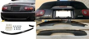 For 1990 1997 Mazda Miata Jdm Glossy Black Trunk Spoiler Wing R Package Rear Lip