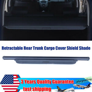 For 2010 2017 Kia Soul Retractable Rear Trunk Cargo Cover Shield Shade Black New