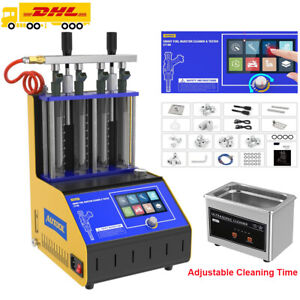 6 Cylinder Fuel Injector Tester Cleaner Cleaning Machine For Petrol Gasoline Car