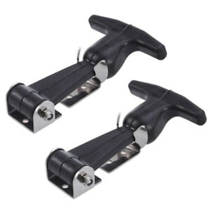 2x Flexible T handle Draw Latches Steel T handle Hasp For Golf Cart Tool Box