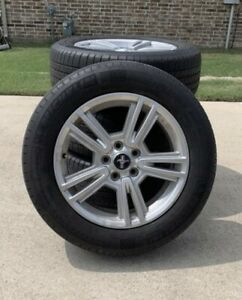 Set Of 4 2014 A Ford Mustang Oem Rims And Tires Tires Are Worn