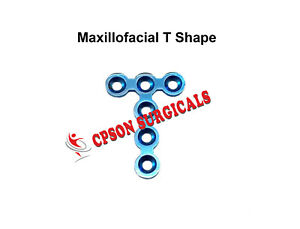 Orthopedics Maxillofacial T Shape Plate Without Bar Surgical Instrument Ss