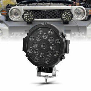 7 Inch 51w Round Off Road Drl Led Work Lights For Jeep Bumper Truck Boat 4wd Atv