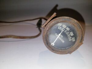 Vintage Car Truck Oil Temperature Gauge W Wire