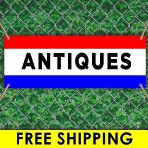 Antiques Advertising Vinyl Banner Flag Sign Many Sizes Free Grommets
