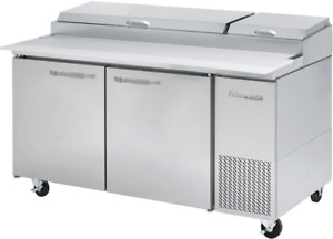 Blueair Commercial Two Door 67 Refrigerated Pizza Prep Table Cooler Bapp67 hc