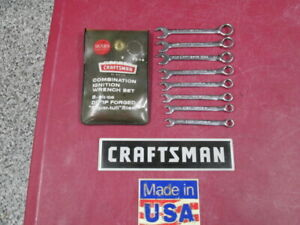 Sears Craftsman Vintage 8pc Combination Ignition Wrench Set 9 4344 Super Tuff