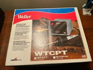 Weller Temperature Controlled Soldering Station Wtcpt Tested In Box Lightly Used