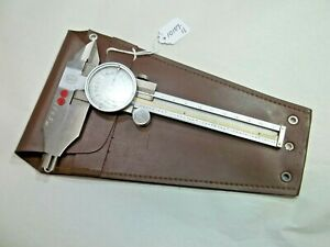 Helios 0 4 Vintage Machinist Dial Calipers 001 Long Jaws Germany