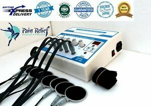 New Physiozenex 4 Channel Electrotherapy Physical Pain Relief Ultrasound Machine