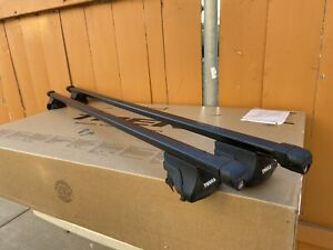 Thule Roof Rack 55 Inch Square Load Bars With 515 5031 Brackets With 2 Keys