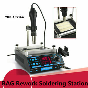 Yihua 853aaa Bag Rework Soldering Station Hot Air Gun Preheater 1200w Ac110v Top
