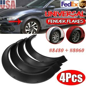4x Universal Flexible Car Fender Flares Extra Wide Wheel Arches Cover Body Kit
