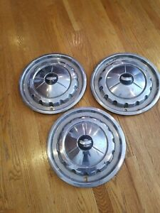 Lot Of 3 Vintage 1957 Chevy Bel Air Nomad 14 Wheel Covers Hubcaps