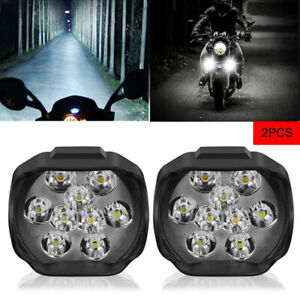 2pcs Car Motorcycle Headlight Spot Fog Lights 9 Led Front Head Lamp 12v 10w Atv