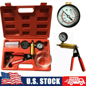 2in1 Brake Bleeder Vacuum Pump Tester Kit Hand held Automotive Garage Tool Us