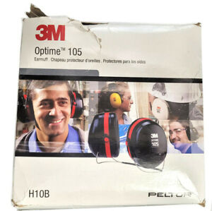 3m Commercial Tape Div H10b Peltor Optime 105 Behind The head Earmuffs Red