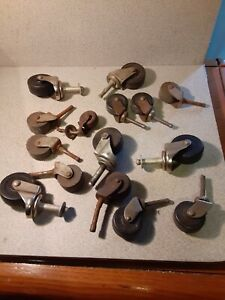 Lot Of 14 Vintage Antique Wheels Some Swivel Casters