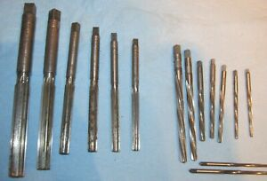 Lot Of 15 Vintage Reamers 6 Straight 9 Twisted Cleveland Ctd Other Lqqk