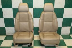 2009 Escalade Esv Cashmere Tan Leather Left Right Front Seat Set Tv Screens