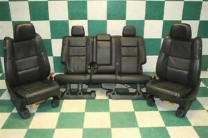 11 12 Grand Cherokee Black Leather Heated Front Power Buckets Backseat Set Oem