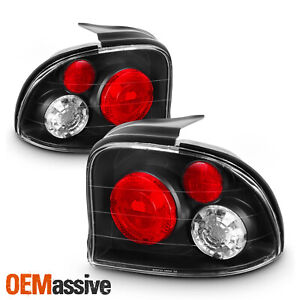 Fits 95 99 Dodge Plymouth Neon Jdm Black Tail Brake Lights Lamp Pair Left Right