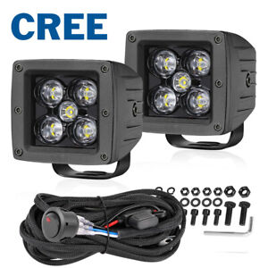 Wiring Kit 2x 3 Cree Led Cube Work Light Bar Spot Flood Pods Driving Off Road