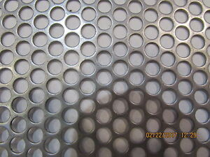 1 4 Holes 16 Gauge 304 Stainless Steel Perforated Sheet 15 X 16