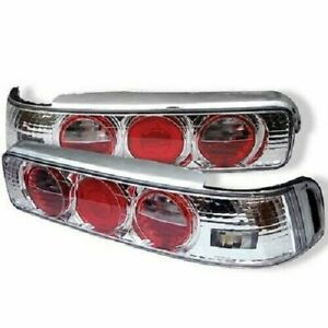 90 93 Acura Integra 2dr Tail Lights Red Chrome Lamps Left Right New Euro Altezza