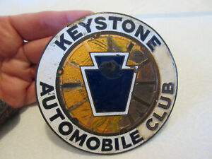 Vintage Keystone Automobile Club License Plate Topper Original