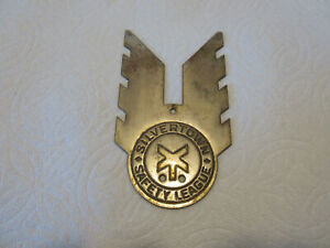 1930s Vintage Silvertown Safety League License Plate Topper