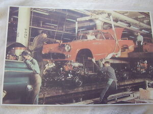 1955 Ford Thunderbird Assembly Line In Color 11 X 17 Photo Picture
