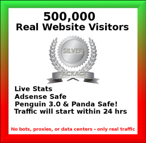500 000 Real Visitors And Seo Submit Website Web Advertising