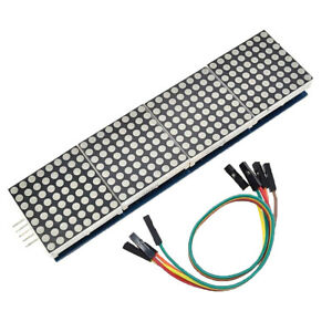 Set Of 4 In 1 Max7219 Led 8x8 Dot Matrix Display Module Mcu Control Kit