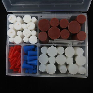 120pc High Temperature Silicone Plug Kit For Masking Powder Coating 2mm 19mm