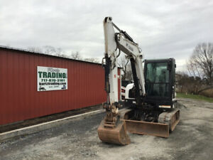 2017 Bobcat E63 Hydraulic Midi Excavator W Cab Clean Only 1600 Hours