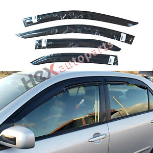 4pcs Sun Rain Window Visor Guard For 2003 07 04 05 06 Toyota Corolla Mugen Style
