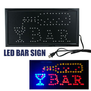Led Restaurant Cafe Bar Club Sign on off Switch Open Light Neon Party