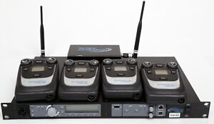 Clear com Tempest 900 Complete System 4 Beltpacks Charger And Transceiver