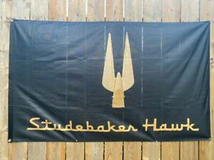 Studebaker Hawk 3 X 5 Banner Flag Sharp Black An Gold