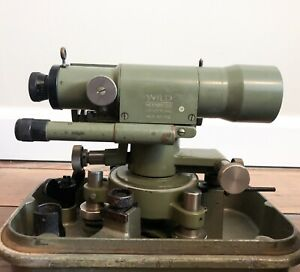 Vintage Wild Heerbrugg Level Model Nk2 Swiss Surveying And Case Telescope Wwii