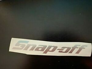Silver Snap Off Tool Box Name Plate Vinyl Decal Snap On Spoof Sticker