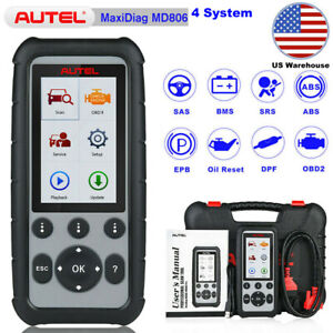 Autel Maxidiag Md806 Four System Obd2 Auto Diagnostic Code Readers Bms Throttle