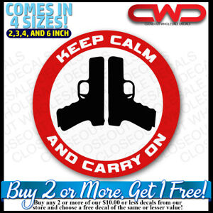 Keep Calm And Carry On Decal Sticker Vehicle Car Truck Laptop Cell 2a 500163