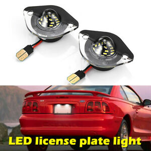 2pc Led License Plate Light Bulb Assembly Replacement For 1994 2004 Ford Mustang